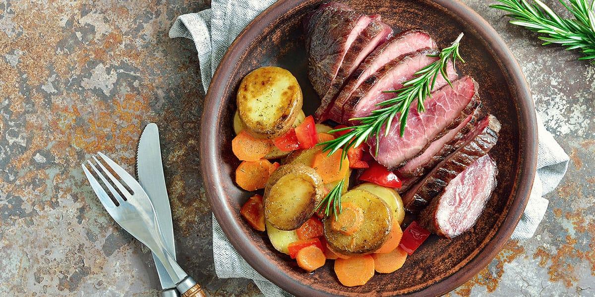Guarniciones para cortes carne asada