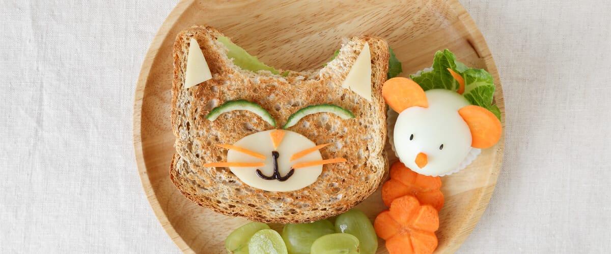 Si a tu niño le gustan los gatos, ¡este sándwich de gato le fascinará!