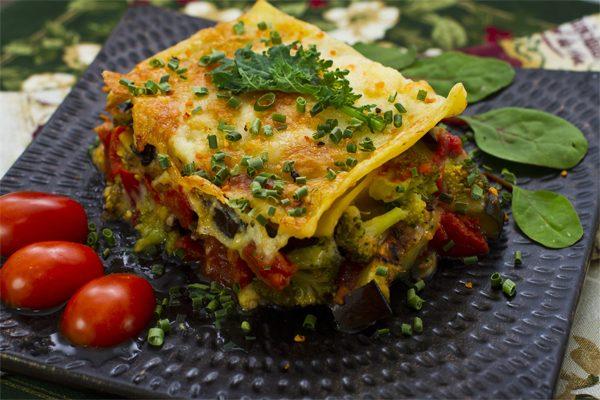 receta lasaña vegetariana