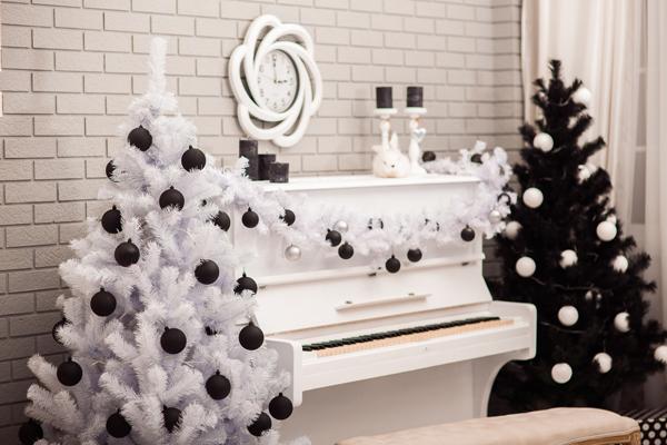 decoración navideña en negro