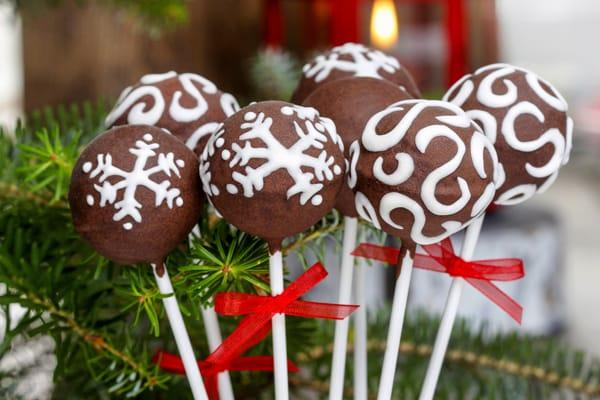 Cakepops navideños de chocolate