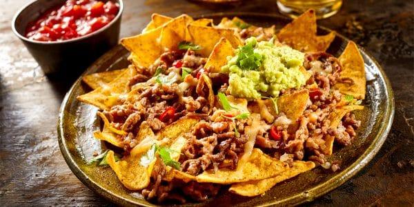 receta nachos con carne