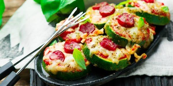 Recetas de cocina Bocaditos de pizza de calabacitas