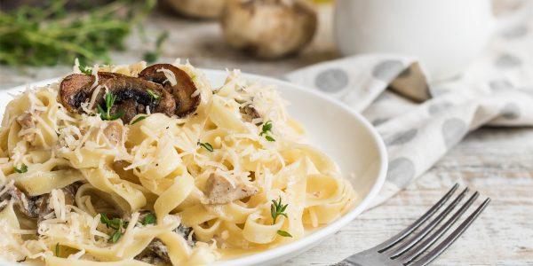 recetas de cocina pasta con champiñones