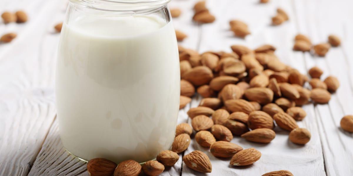 receta leche de almendras