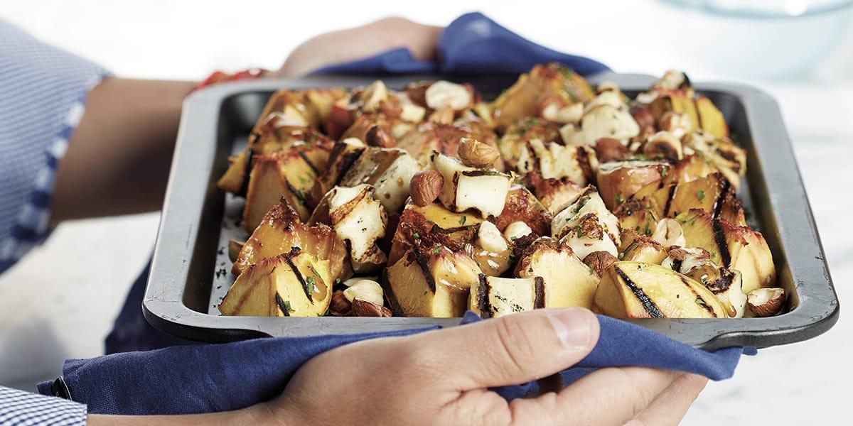 recetas de cocina Ensalada de duraznos parrillados