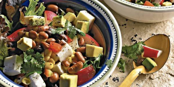 recetas de cocina Ensalada de frijoles con vegetales
