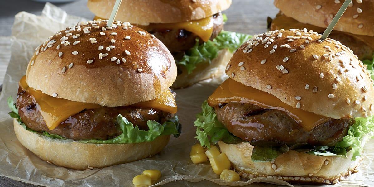 recetas de cocina Mini hamburguesas de Sirloin a la parrilla