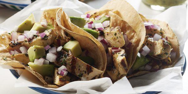recetas de cocina Tacos de pollo a la parrilla con jalapeño