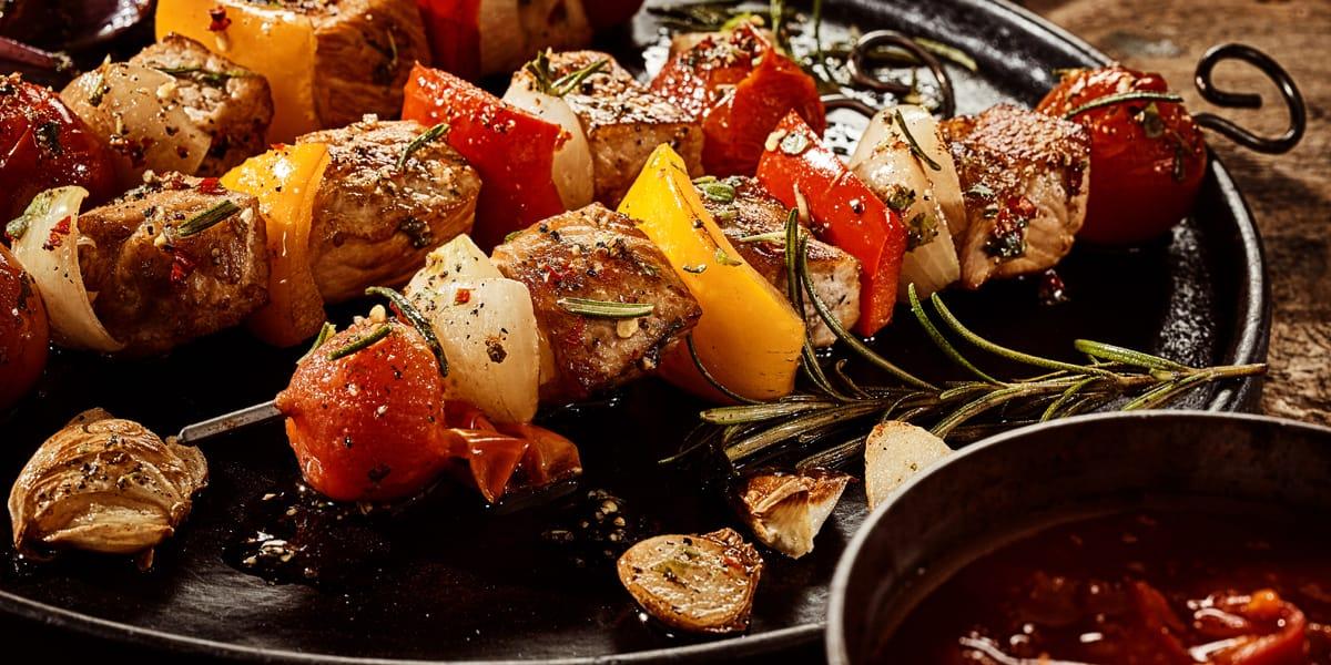 recetas de cocina Brochetas a la BBQ