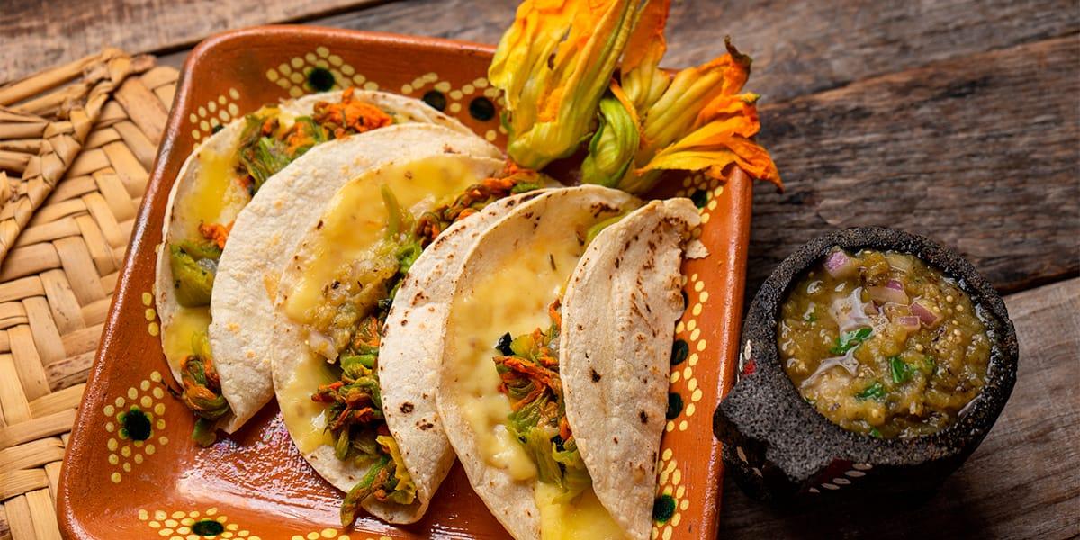 receta- quesadilla de flor de calabaza
