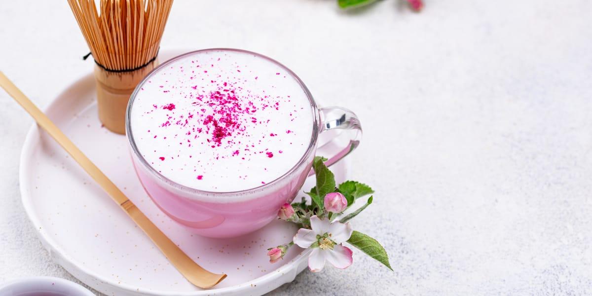 pink latte receta