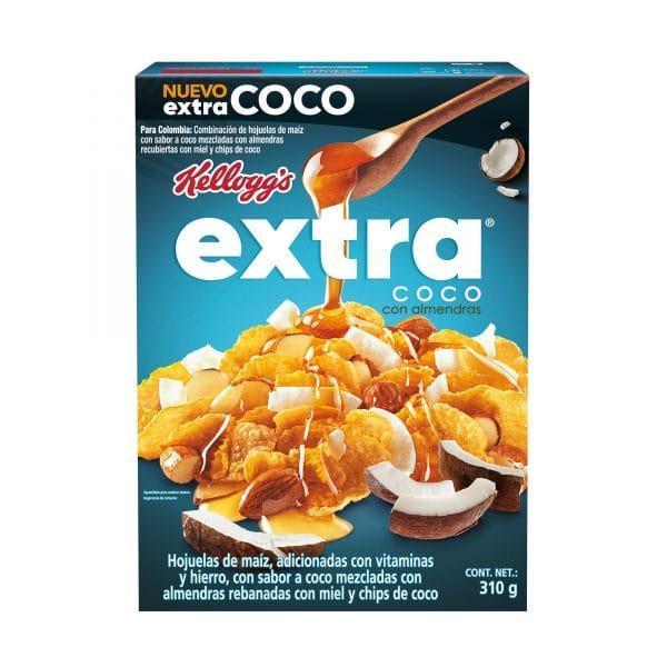 Cereales saludables, Kelloggs Extra Coco con almendras