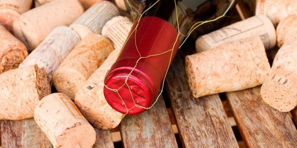 Tapones de corcho para botellas de vino