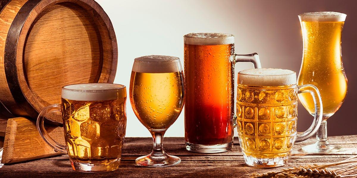 Tipos de vasos para cerveza