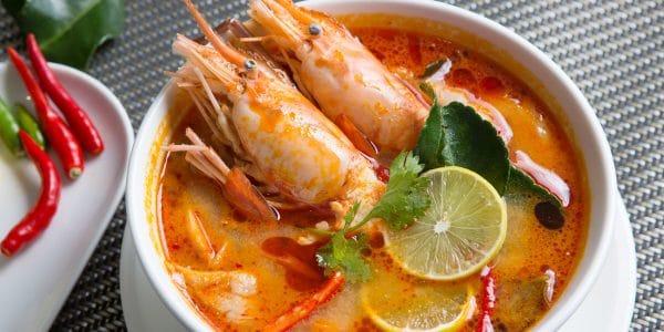 caldo de pescado y camarón