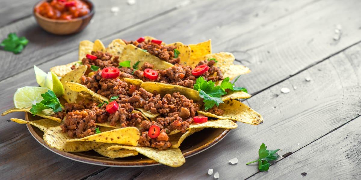 nachos de nopal
