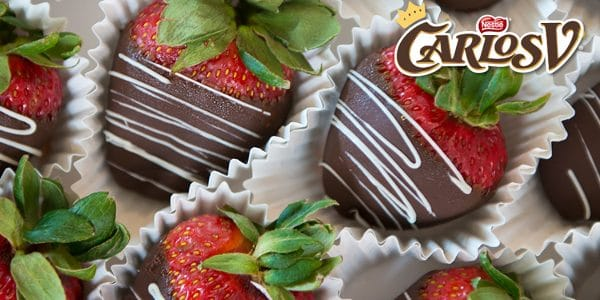 Fresas Cubiertas de Chocolate Carlos V