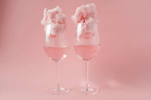 Cocteles rosas, Cotton candy champagne