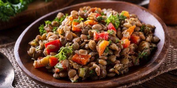 Receta de ensalada de lentejas vegetariana