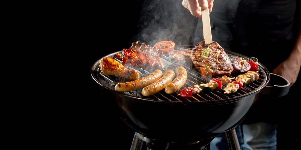 Tipos de carbón para asar carne