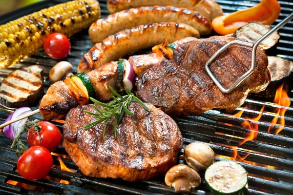 carbón para asar carne
