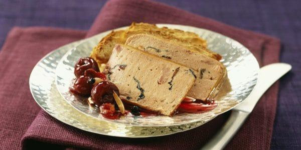 Paté de foie con reducción de vino tinto