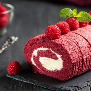 rollo de fresa receta para navidad