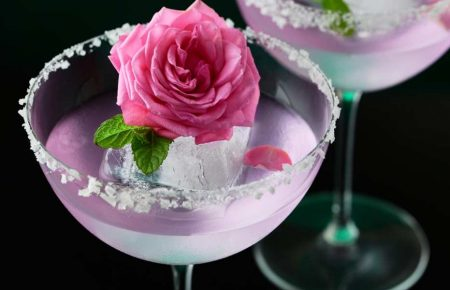 Recetas de bebidas color rosa